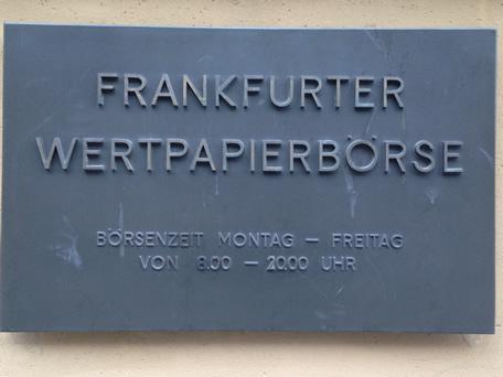 besuch börse frankfurt